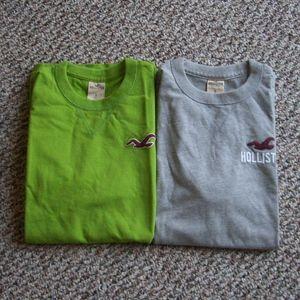 Bundle of 2 Hollister men t-shirts S